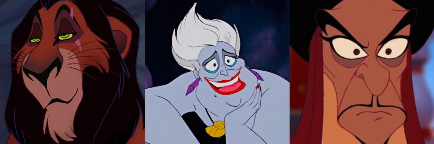 Some queer-coded early Disney villains — Scar, Ursula and Jafar