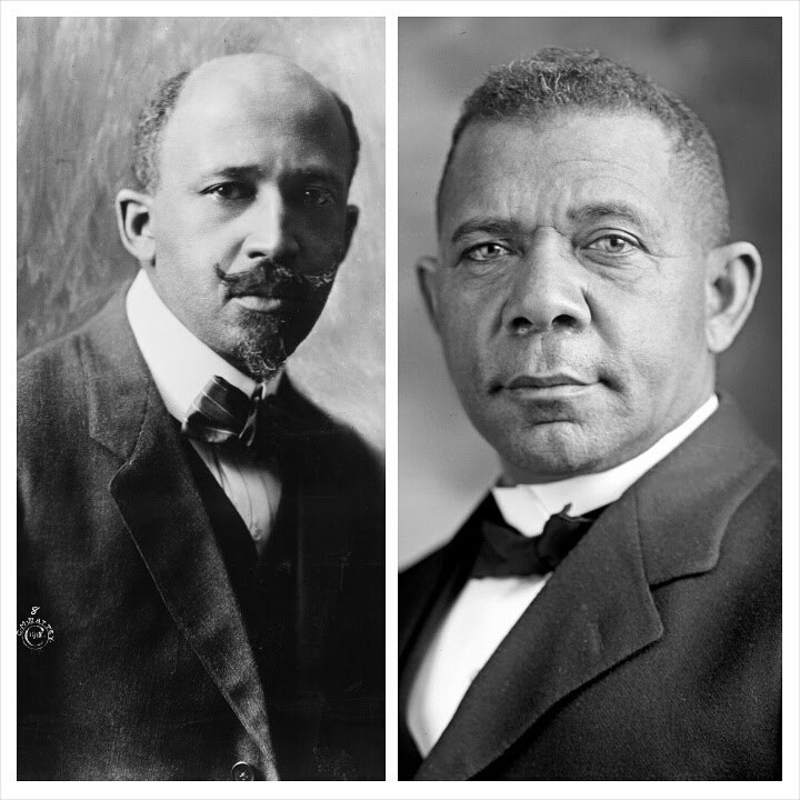 W.E.B Dubois on the left and Booker T. Washington on the right.
