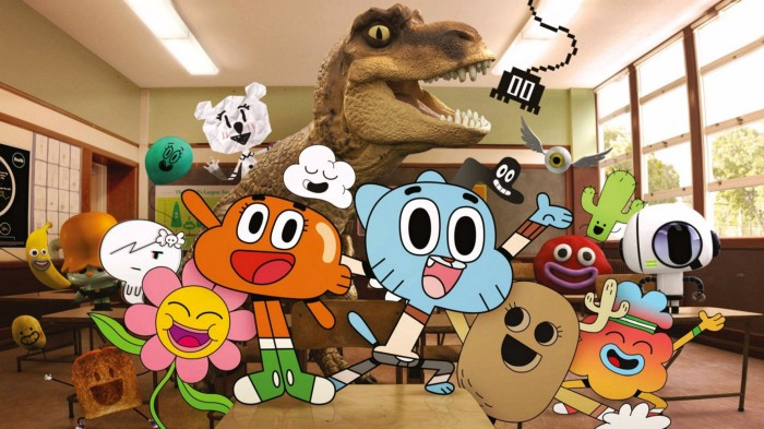 Gumball, Darwin, and a few of their schoolmates