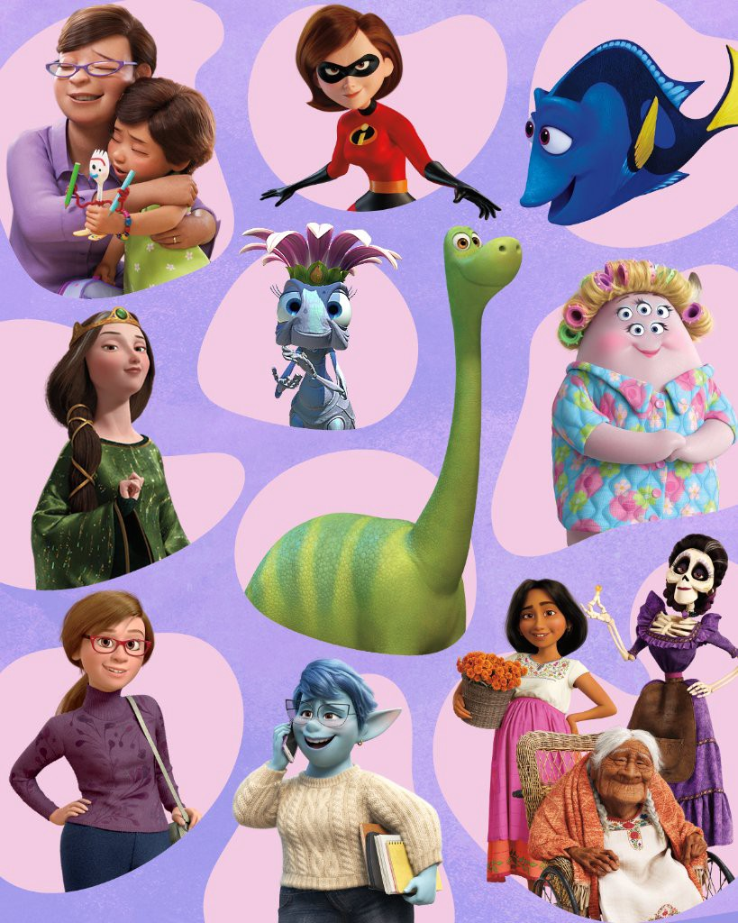 A similarly curvy body type of most Pixar mothers