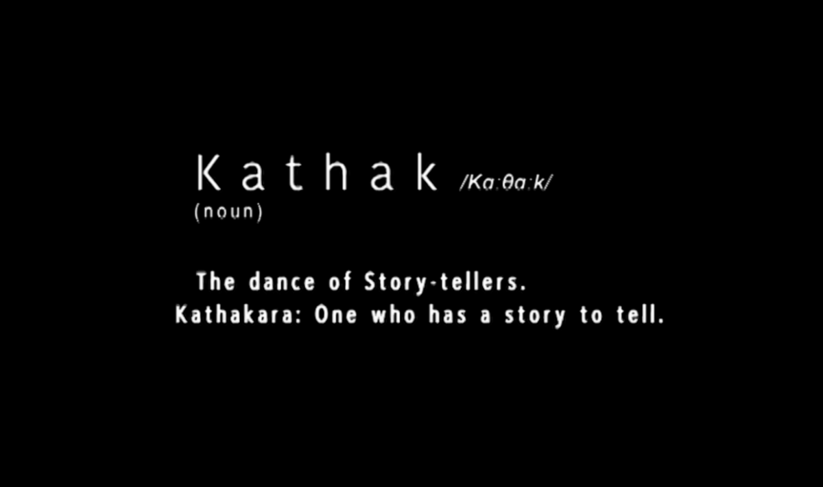 Kathak Dancing with taboos title screen