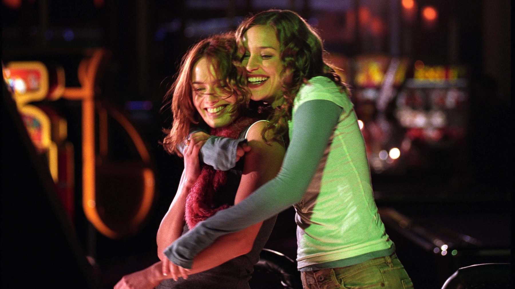 Luce (left) and Rachel (right) on a night out