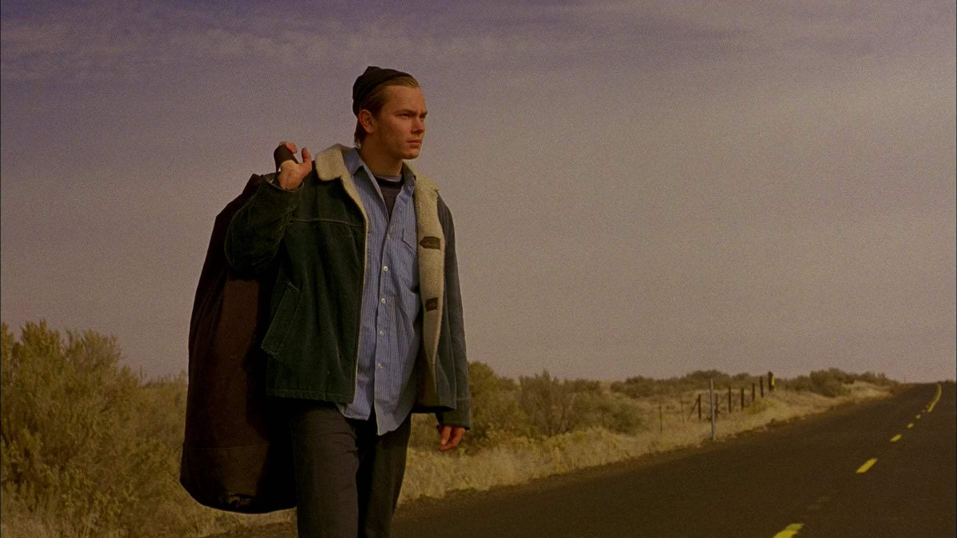 River Phoenix as Mike in 'My Own Private Idaho' (1991).