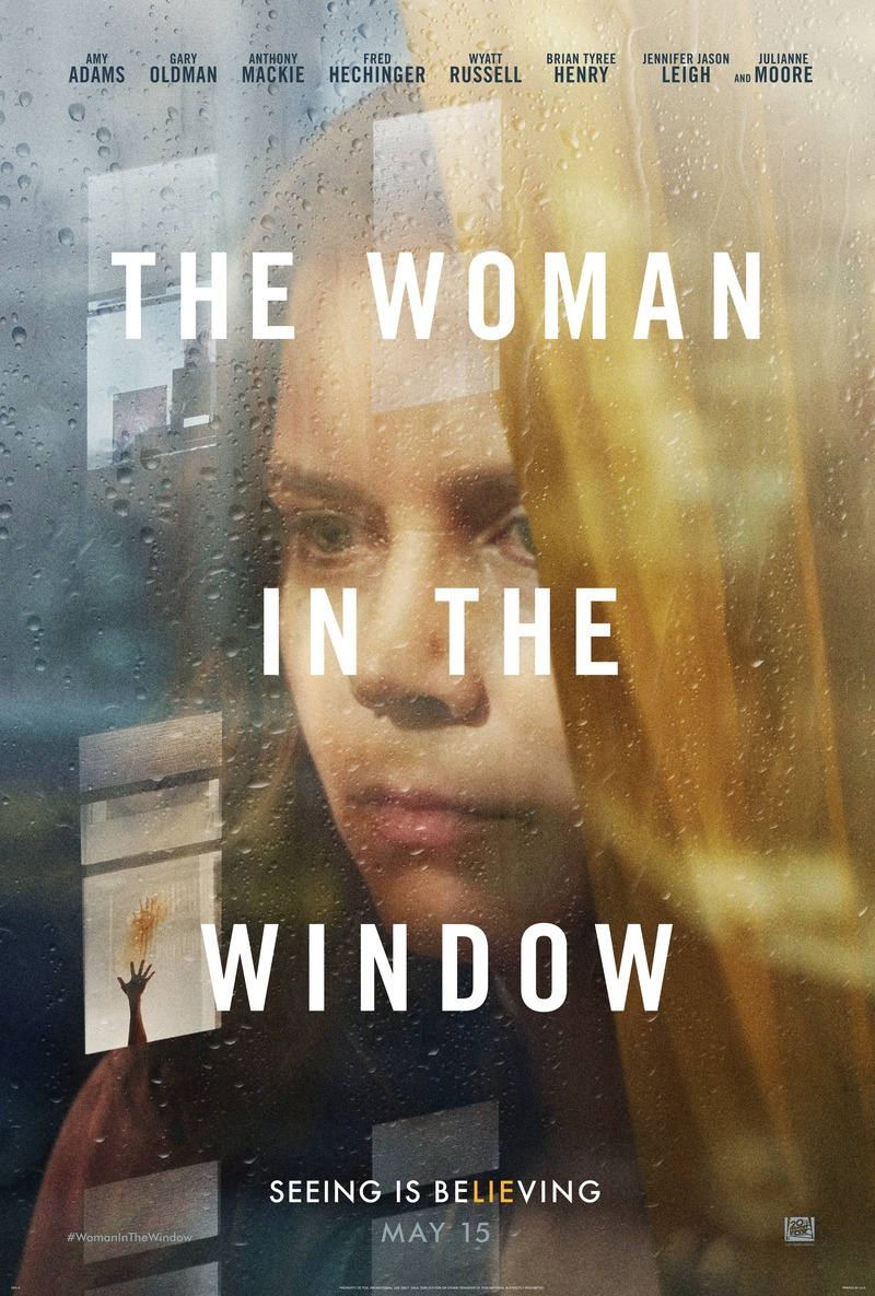 """Promotional poster for """"The Woman in the Window"""""""