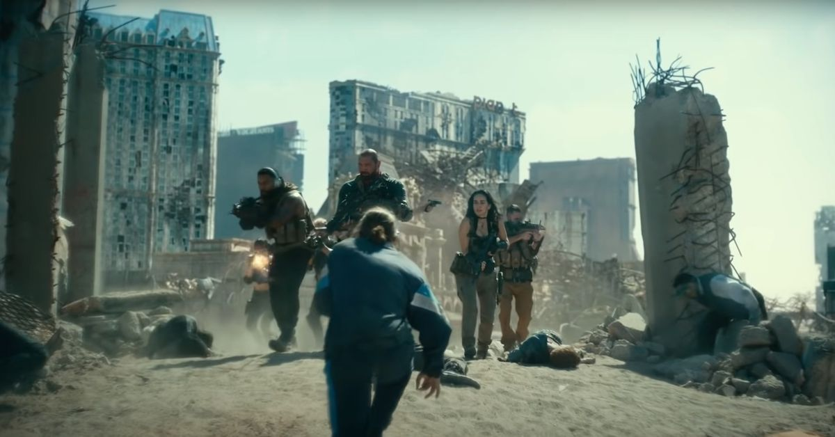 Scott and his team make their way through the ravaged streets of Vegas while a hoard of zombies attacks them.