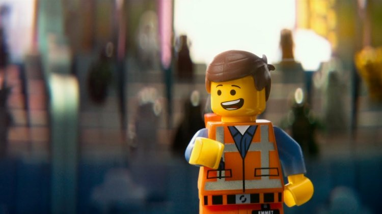 """A still from """"The Lego Movie"""" featuring Emmet talking"""