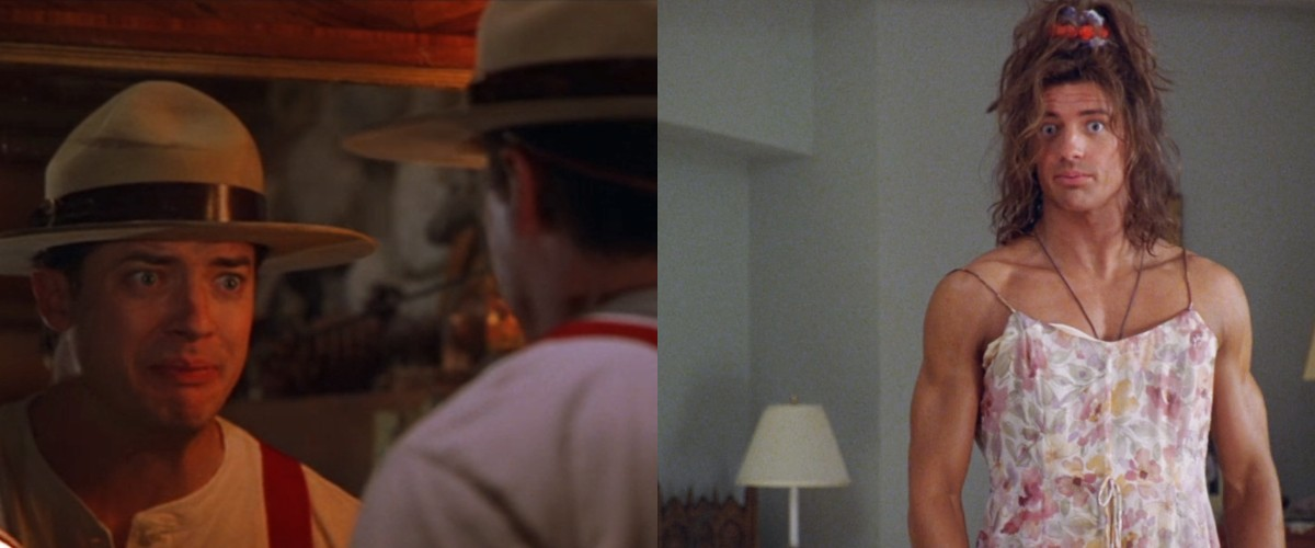 Brendan Fraser in Dudley Do-Right (1999) & George of the Jungle (1997)