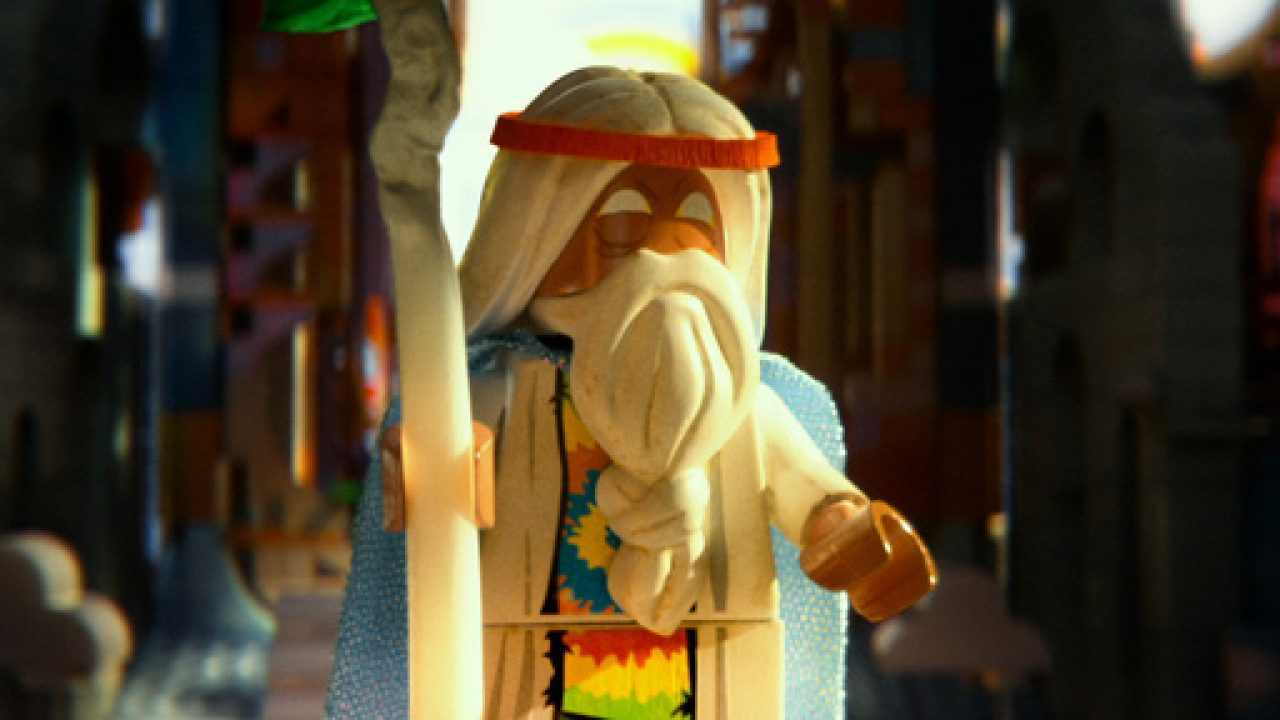 A still from the movie featuring the wizard Vitruvius