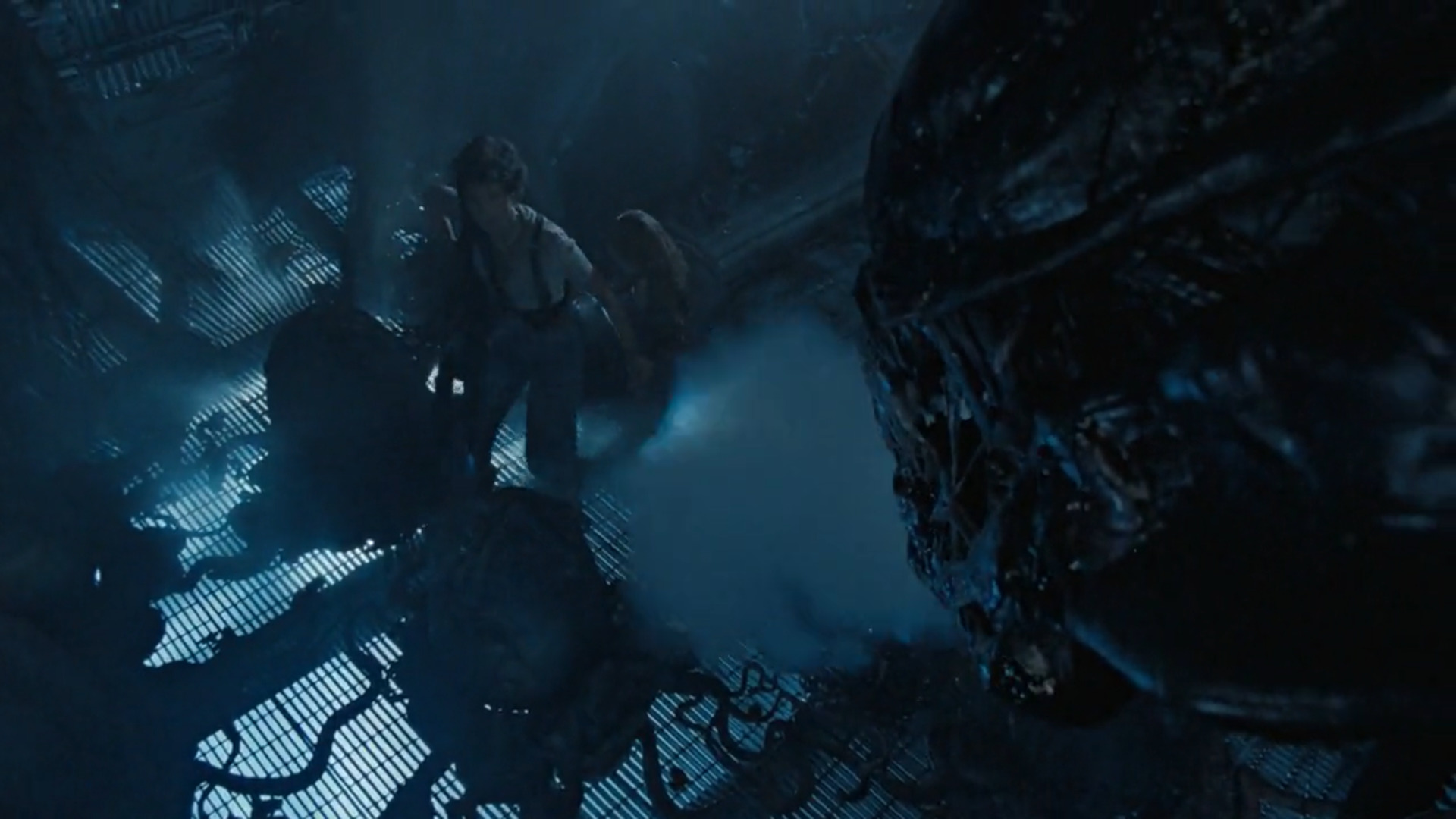 Ripley and Newt come face to face with the Xenomorph Queen and her horde of eggs.