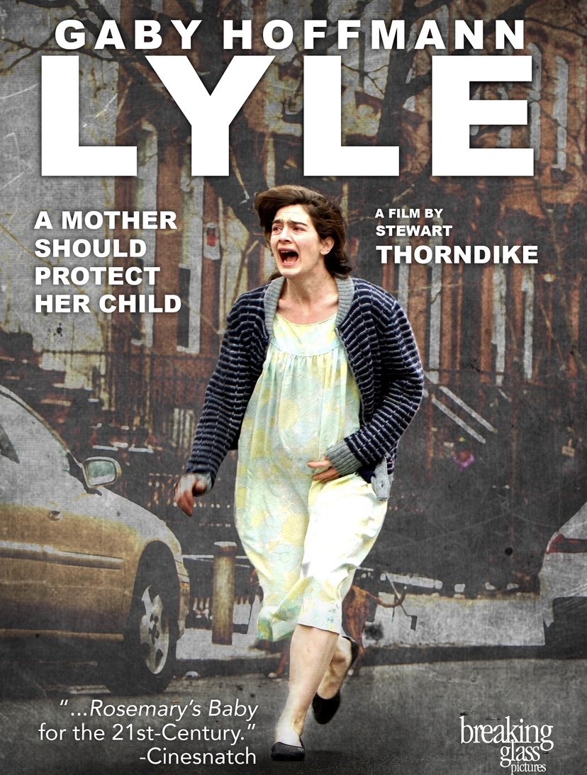 A poster for the film showing Leah after escaping her apartment. She runs through the streets while holding her pregnant stomach.