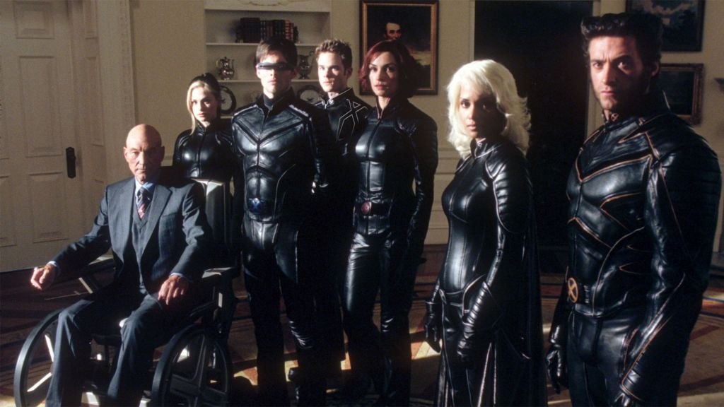 The X-Men stand together wearing badass leather suits.