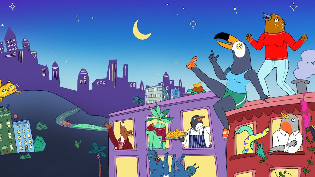 Cover photo of the animated comedy series Tuca and Bertie