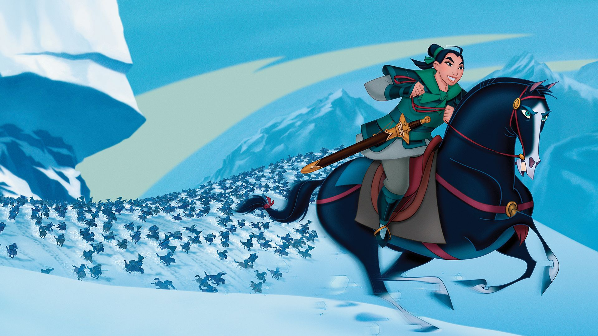 Mulan implementing her plan and saving the day