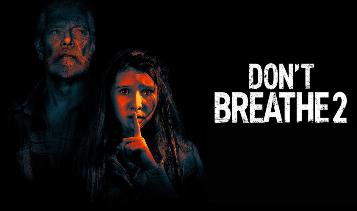 'Don't Breathe 2' promotional image of Phoenix and Nordstrom in the dark
