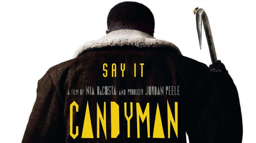 A promotional image for 'Candyman' of the back of Candyman