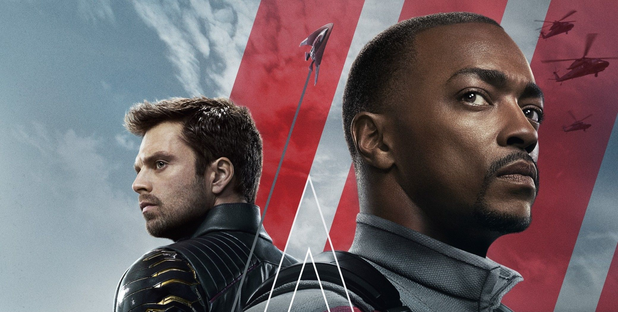 'Falcon and the Winter Soldier poster portray characters Sam Wilson and Bucky Barnes