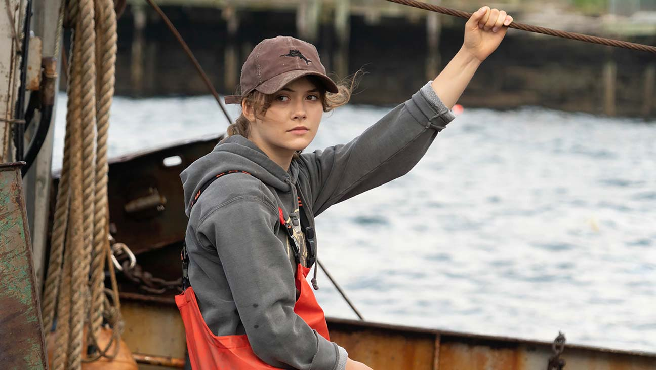 A still from 'CODA' of Ruby on the fishing boat