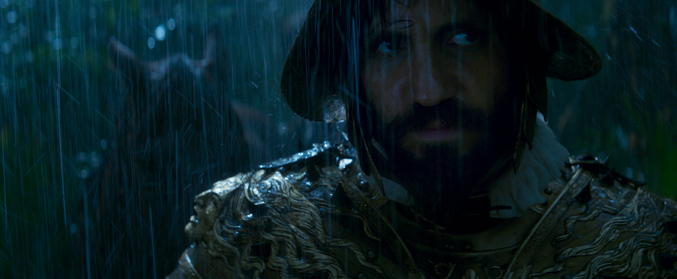 """A still from """"Jungle Cruise"""" of Aguirre in the jungle in the 1500s"""