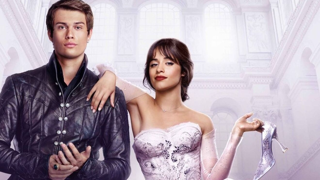Promotional image for 'Cinderella' (2021) of Cinderella and the prince