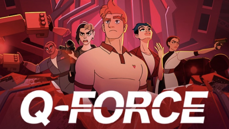 A promotional poster for Q-force.