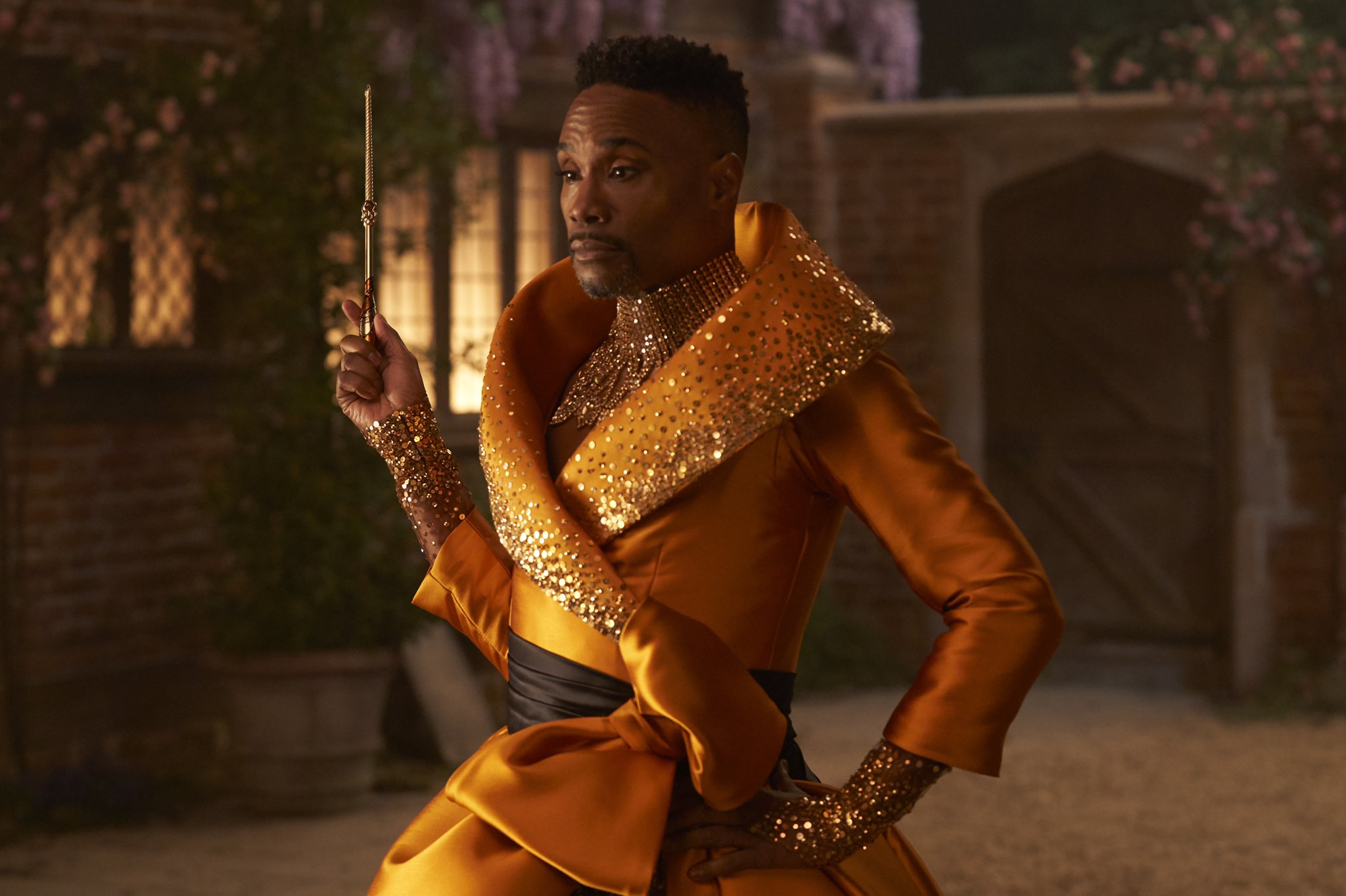 A still from 'Cinderella' (2021) of Billy Porter as the fabulous godmother