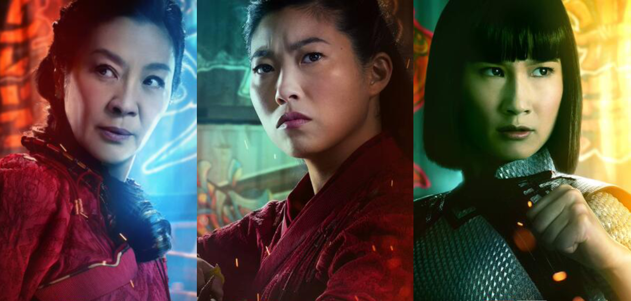 """The character posters for Ying Nan, Katy, and Xialing in """"Shang-Chi"""""""